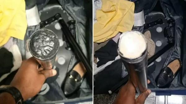 Ocupan en el AILA más de un kilo presumiblemente cocaína en los tubos de una maleta