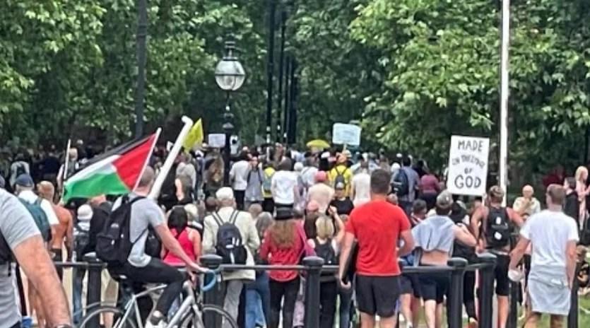 Miles de manifestantes en Londres contra las restricciones anticovid