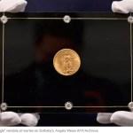 Una moneda de oro estadounidense se subasta a un récord de USD 19,5 millones en Nueva York