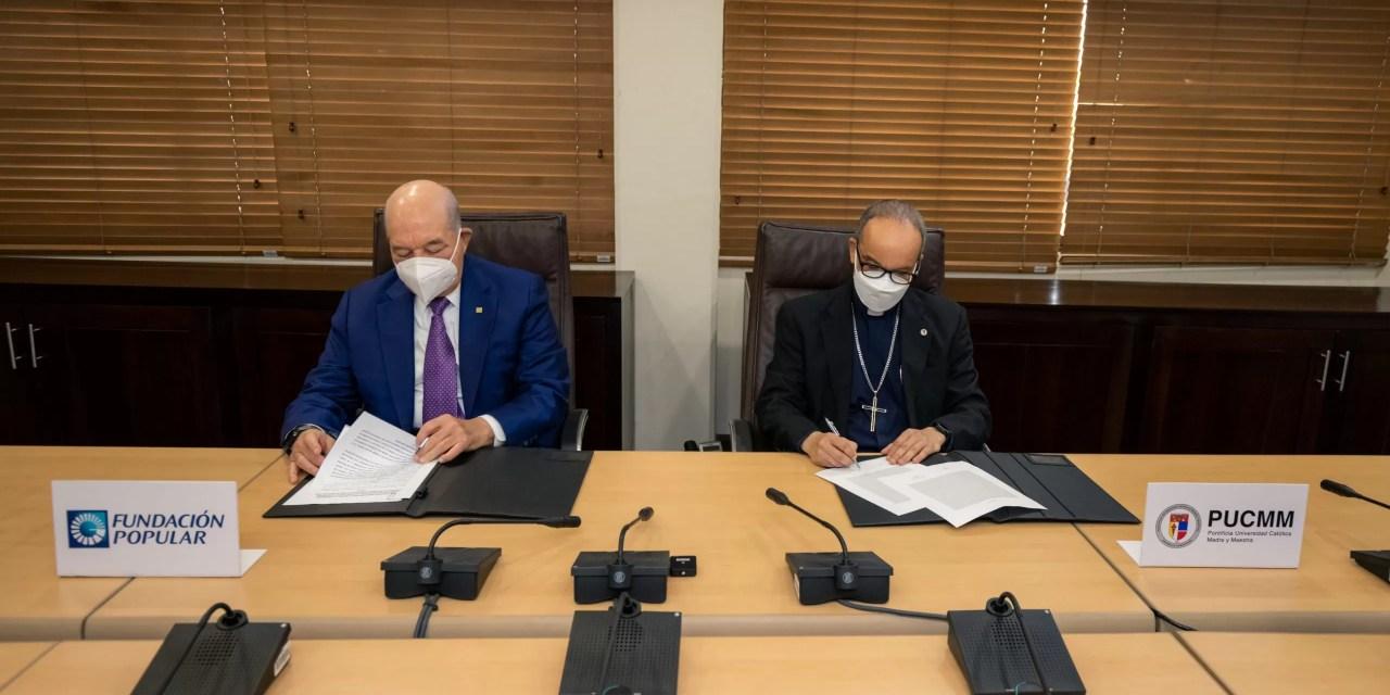 Grupo Popular y PUCMM ratifican convenio de colaboración