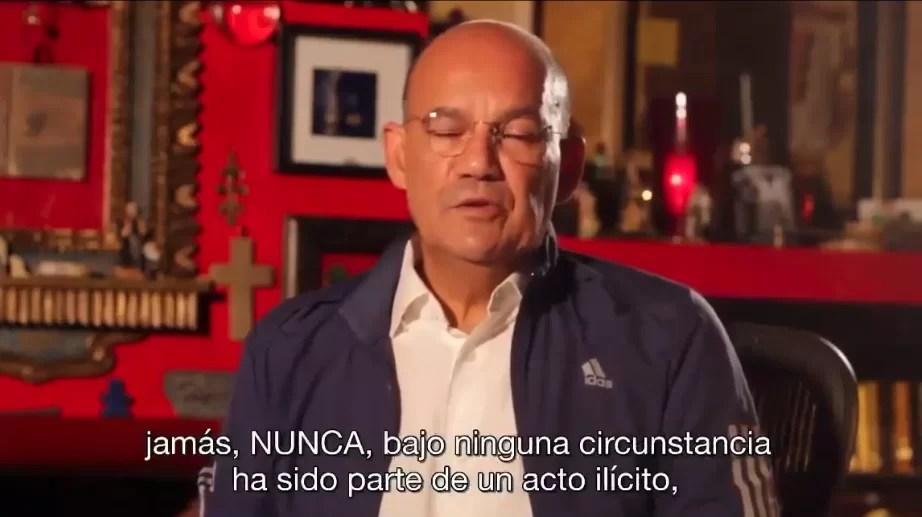 Video: Miguel José Moya dice no ha cometido actos ilícitos
