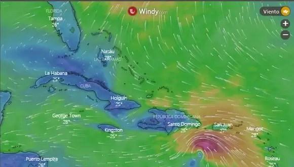 Campos nubosos del huracán Elsa entran al país