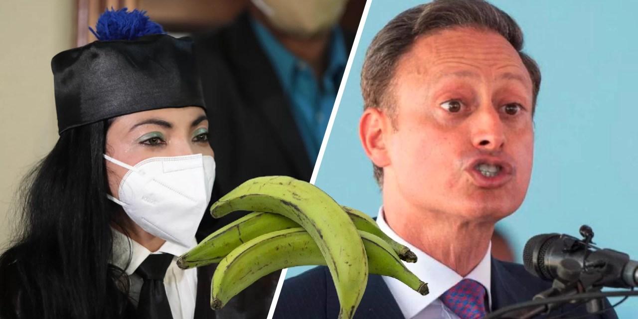 Jean Alain dejó plátanos en su caja fuerte