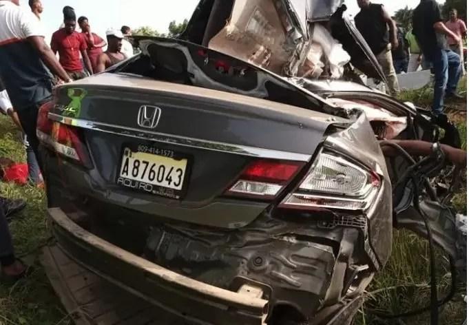 Dos fallecidos en accidente autopista 6 de noviembre