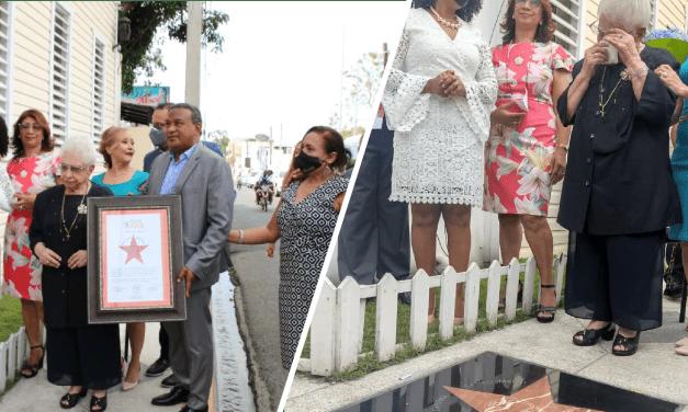 La voz del Yuna develiza estrella en honor a María Cristina en su 6to aniversario