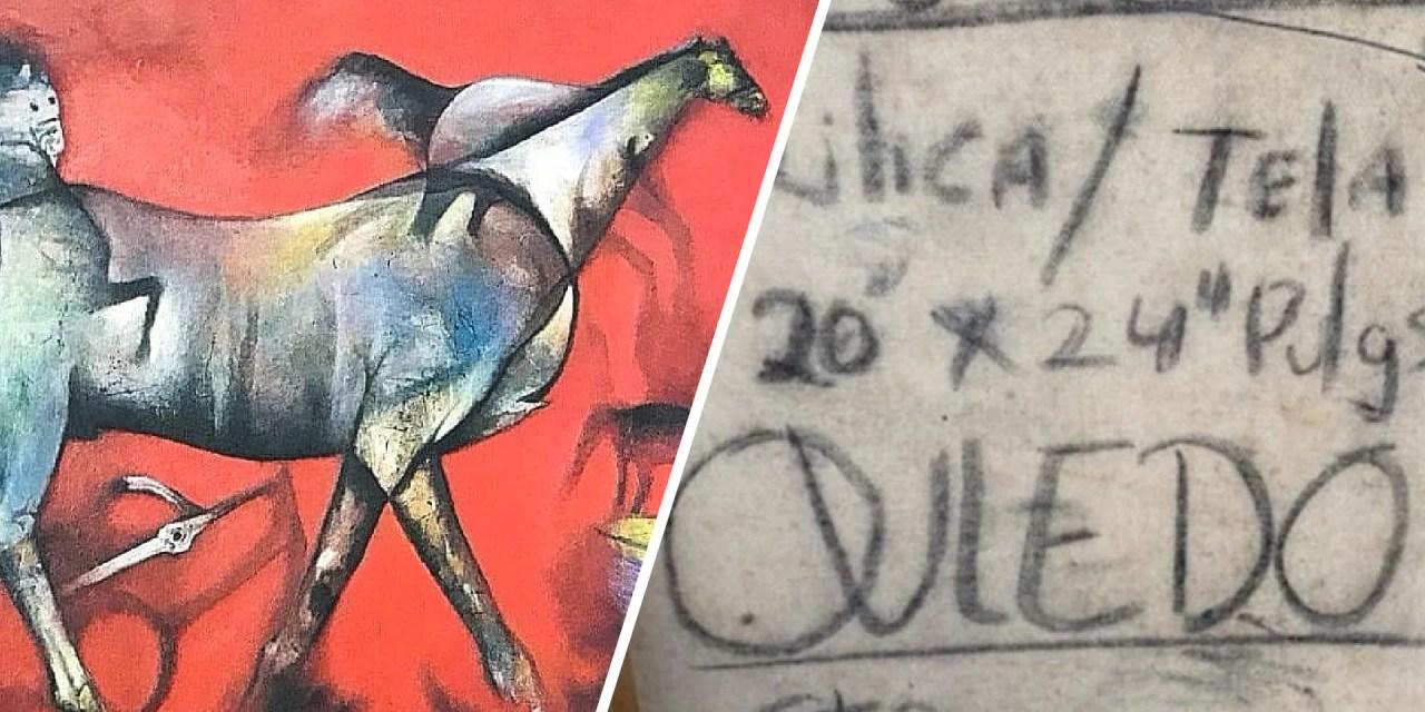 Falsifican obras del pintor Ramón Oviedo