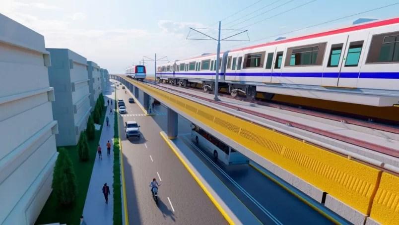Habrá una vía marginal en línea 2C del Metro de Santo Domingo