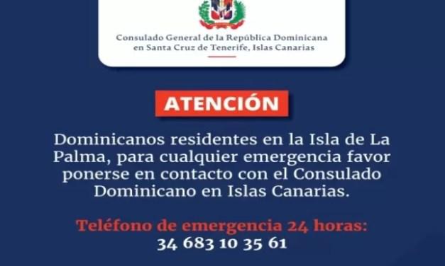Habilitan línea de ayuda tras erupción volcánica en Islas Canarias