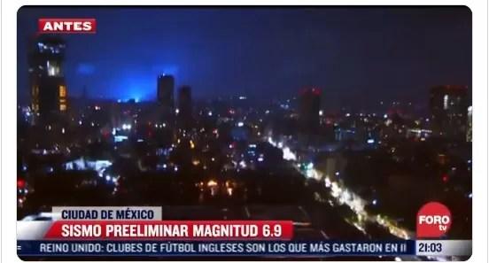 Terremoto en México: ¿Qué son las luces que iluminaron el cielo durante el sismo?