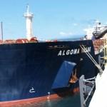 Barco descarga 60 mil toneladas de carbón en Punta Catalina