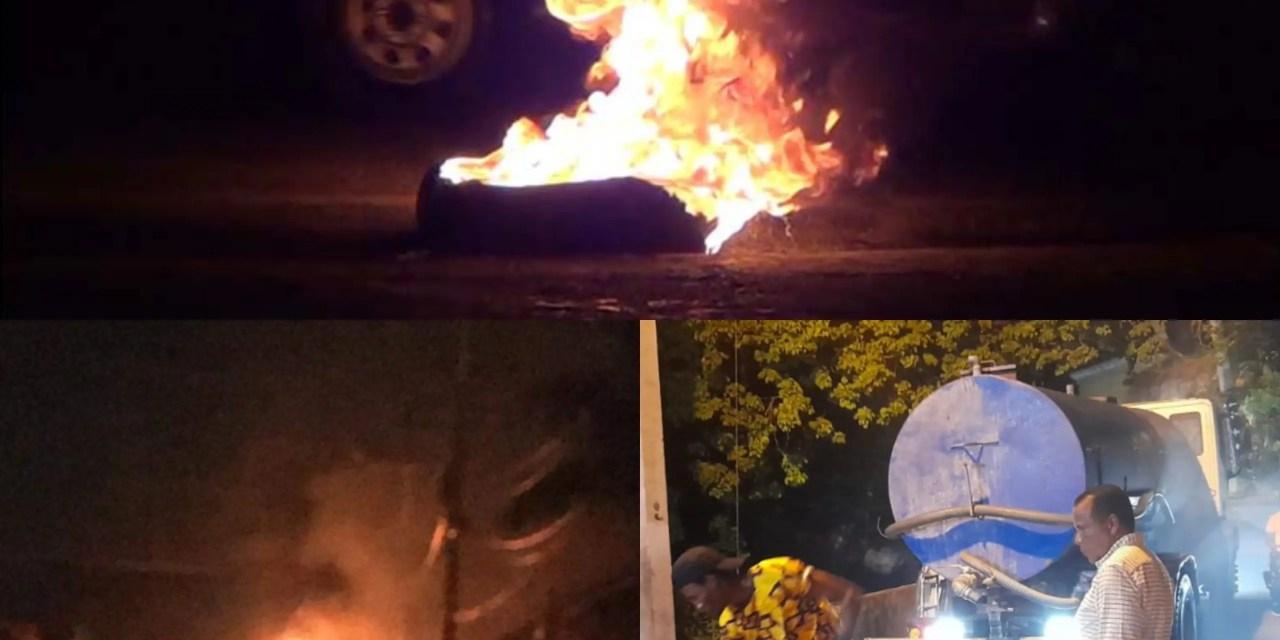 Puerto Plata irritada: protestan por apagones