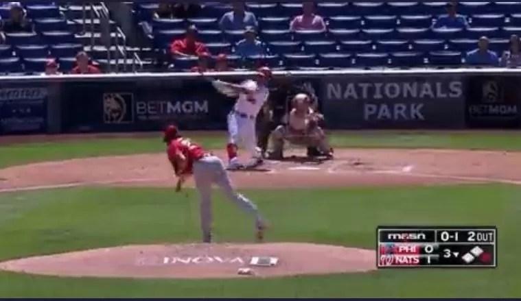 Juan Soto pega tremendo cuadrangular ante los Phillies