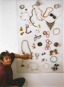 """Marie Chamant, """" Place aux bijoux aimés """", projet, 1976-1991."""