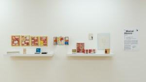 Vue de l'exposition, Marcel Alocco : Origine Nice.Tome 1 : de Fluxus à Idéogrammaire (avant 1974). © Grégory Copitet