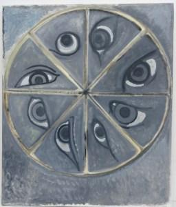 "Ion Grigorescu, "" La roue de la fortune "", huile sur toile, 2003."