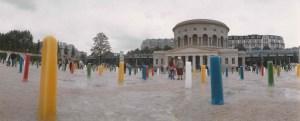 """Bernard Turin, """"Pains de Glace"""", Place Stalingrad, Paris, 1989. ©️ Didier Bonaventure"""
