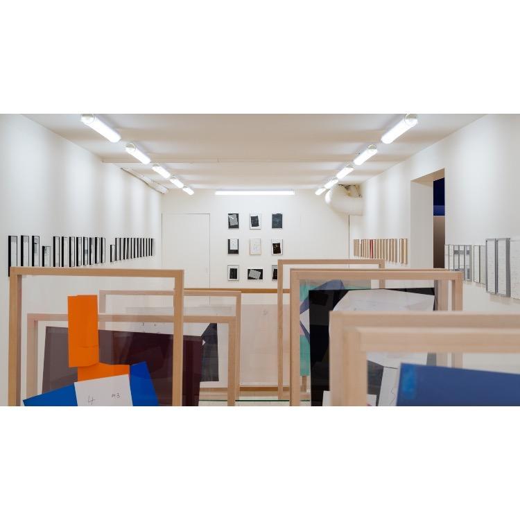 Vue d'ensemble de l'exposition de Marie Chamant «Javelles – Jachères – Polygraphie». Photographie: © Grégory Copitet – Enseigne des Oudin