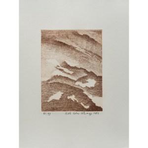 Gisèle Celan-Lestrange, , gravure  numérotée et signée par l'artiste. Tirage à 120 exemplaires numérotés sur papier vélin d'Arches. [Paris : Espace Latino-Américain, 1985]. Photographie : Véronique Huyghe