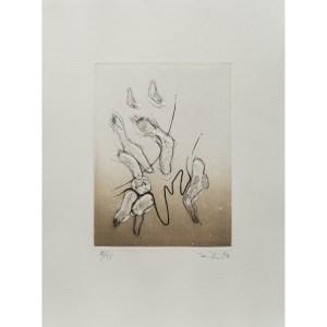 Enrique Zañartu, gravure  numérotée et signée par l'artiste. Tirage à 120 exemplaires numérotés sur papier vélin d'Arches. [Paris : Espace Latino-Américain, 1985]. Photographie : Véronique Huyghe