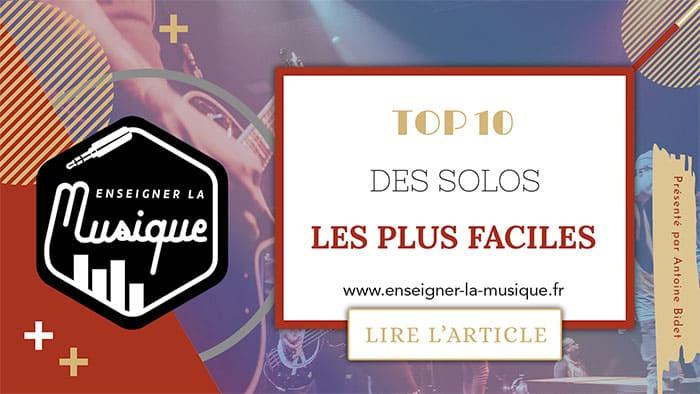 Top 10 Des Solos Les Plus Faciles 🎸