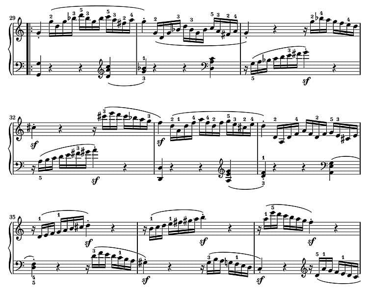 """Extrait de la Sonate N°16 de Mozart pour l'article """"Armure et Tonalité : Le Guide Complet"""""""
