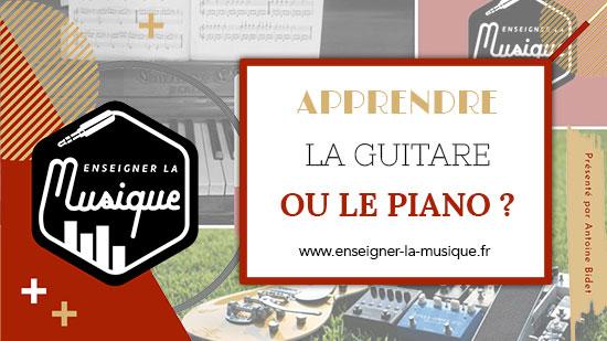 Apprendre La Guitare Ou Le Piano ? 🎹⚔️🎸
