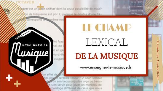Le Champ Lexical De La Musique 📖