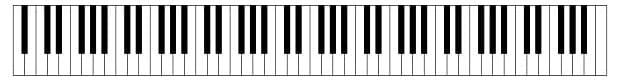 """Image d'un clavier de piano pour l'article """"Le Demi-Ton En Musique"""""""