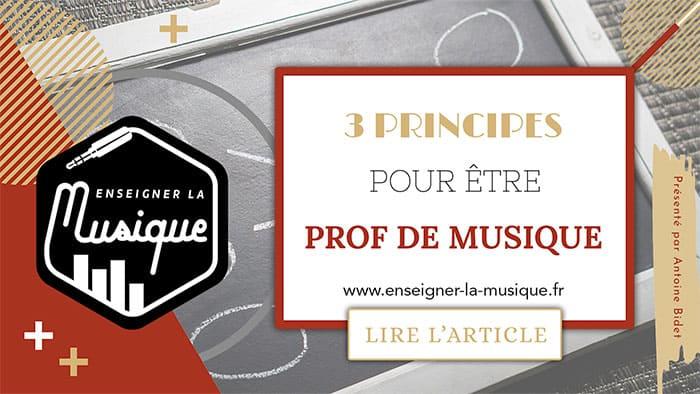 3 Principes Pour Devenir Professeur De Musique