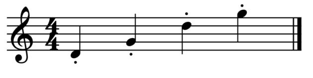 """Représentations de notes piquées pour l'article """"Le Staccato Musique Suspendue"""""""
