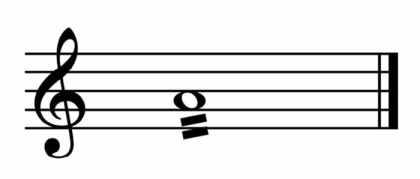 """Abréviation d'une batterie d'un La ronde sur un rythme de double-croches pour l'article """"Les types d'abréviation musicale"""""""