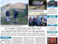 Le Parisien77 : Le maire a donné son feu vert au dépôt de gravats…