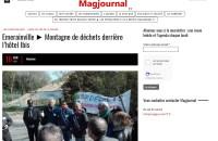 Magjournal77 : Emerainville – Montagne de déchets derrière l'hôtel Ibis