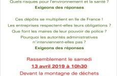 Déchets : rassemblement le 13 avril pour exiger des réponses