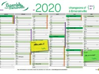 Le calendrier 2020 arrive : Ensemble changeons d'ère (d'air) à Emerainville