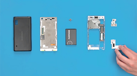 Fairphone modular smart phone pieces