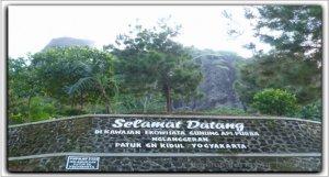 Pintu depan Ekowisata Gunung Api Purba Nglanggeran Yogyakarta