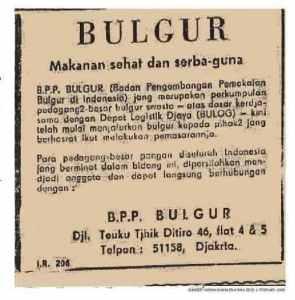 Iklan Bulgur Harian Indonesia Raya 1 Februari 1969