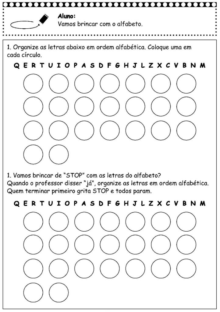 brincar com o alfabeto
