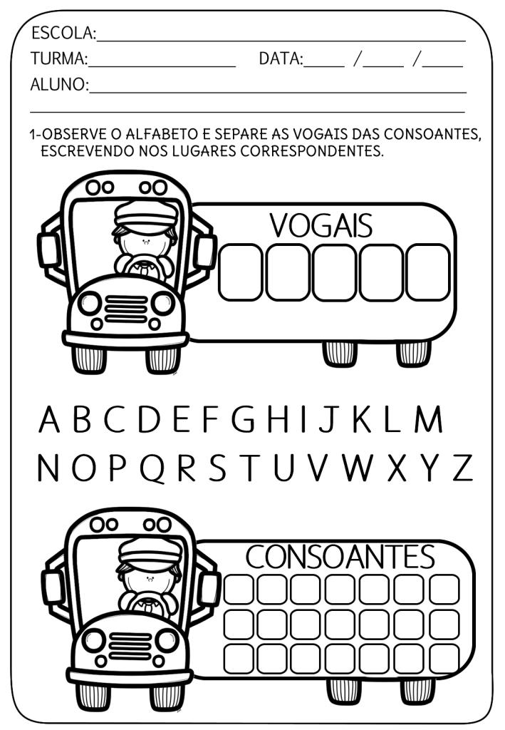 separar vogais e consoantes