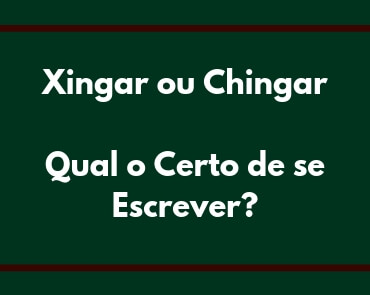 xingar ou chingar