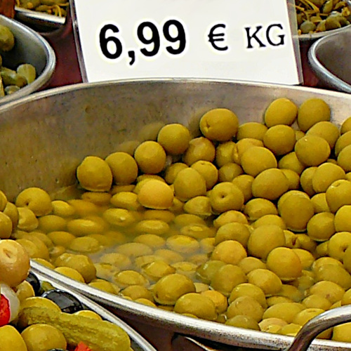 Olives for sale.
