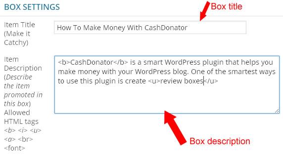 cashdonator box description