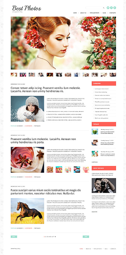 Photo Video Blog WordPress Theme