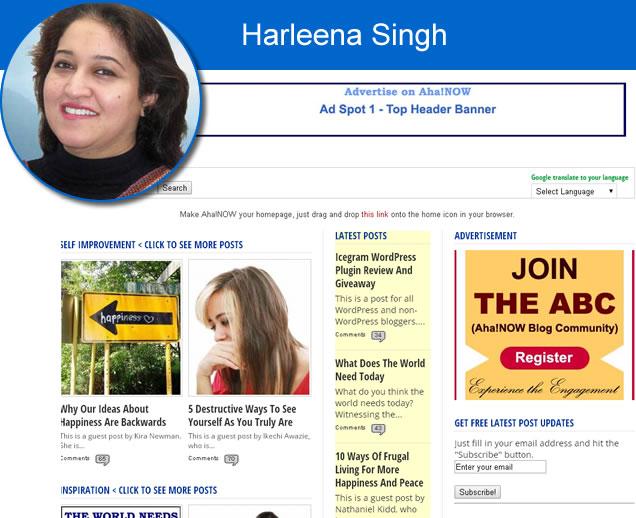 Harleena Singh top blogger
