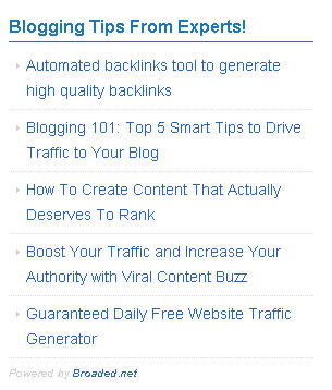 referral traffic sidebar