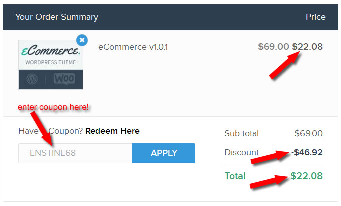 Wordpress annual subscription coupon code