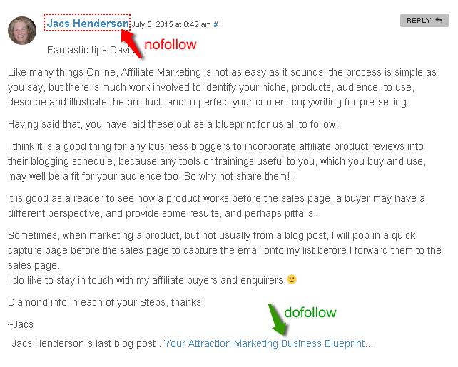 dofollow backlinks on commentluv blogs
