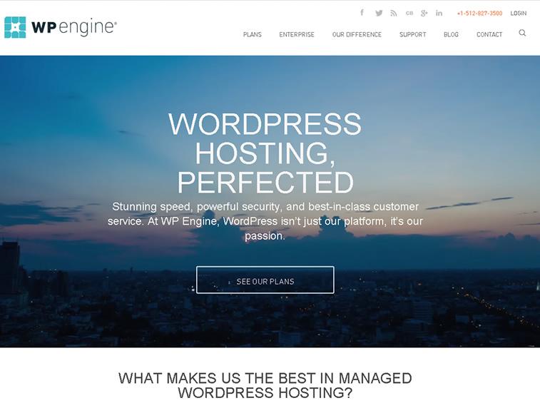 wpengine managed wp hosting