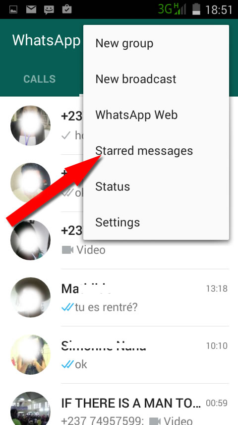 star in whatsapp